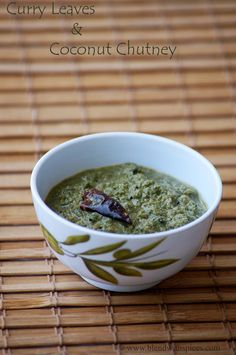 Curry Leaves and Coconut Chutney Recipe   Blend with Spices