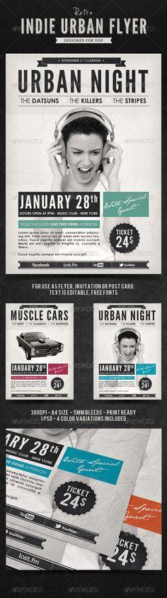Indie Retro Urban Flyer / Poster
