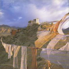 Prayer Flags in Ladakh, India. From the book A Simple Path by His Holiness the Dalai Lama.