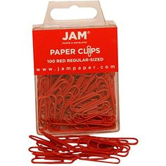JAM Paper® - Paper Clips - Red Regular 1 Inch Paperclips - 100 paper clips per pack JAM Paper http://www.amazon.com/dp/B003I703FO/ref=cm_sw_r_pi_dp_kP5Lvb0Z32V4G