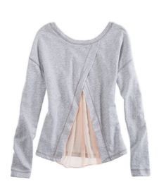 Aerie Sheer-back Sweatshirt | Aerie for American Eagle