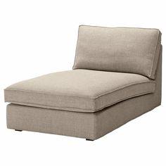 Ikea Kivik Chaise Lounge Slipcover Teno Light Gray Cover Grey Tenö 801.936.79  #IKEA #Modern
