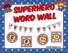 Superhero Word Wall* Revised 6-11-2015 to include editable banners and word wall cards in a PowerPoint format!Make your Word Wall Pop! With this Superhero Themed Word Wall Classroom Dcor Set. No matter what I am teaching, I always have a Word Wall in my classroom.