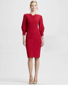Morpheus Boutique  - Red 3/4 Lantern Sleeve Pencil Dress, CA$133.32 (http://www.morpheusboutique.com/red-3-4-lantern-sleeve-pencil-dress/)