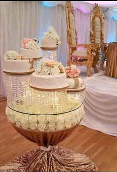 Crystal cake stands, 1 - 2 - 5 or 6 tiers,crystal wedding cake display Wedding Cake Holders, Wedding Cake Display, Wedding Cakes, Wedding Table, Bridal Table, Wedding Ideas, Wedding Receptions, Wedding Inspiration, Cake Table Decorations