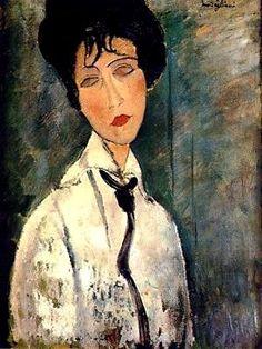 Modigliani-donna con cravatta