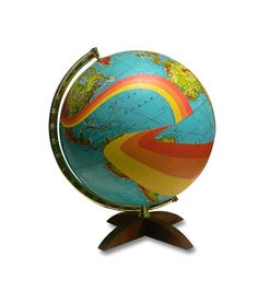 Not All Who Wander Are Lost Globe by wendygold on Etsy, $350.00