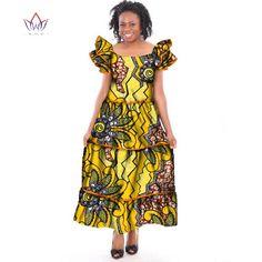 BRW 2018 Summer Dress Dashiki African Long Dress For Women Maxi Dress Bazin  Riche Butterfly Sleeve Party Dress For Femme c34efd081982