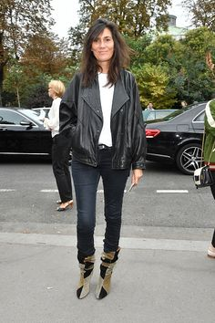Emanuelle Alt is seen arriving at Chloe fashion show during the Paris Fashion Week Spring/Summer 2017 on September 29 2016 in Paris France | @andwhatelse