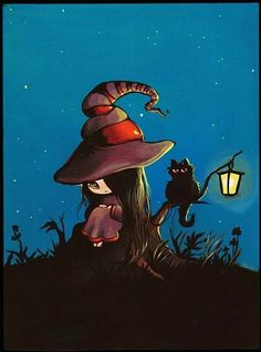 Art 'Witch Nightlight' - by Nico Niemi from witches