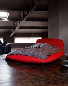 Roche Bobois Black Master Bedroom, Bedroom Red, Diy Bedroom Decor, Bedroom Ideas, Red Bedrooms, Maroon Bedroom, Bedroom Pictures, Bedroom Curtains, Girls Bedroom