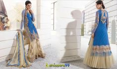 UpTo 15% Discount on Blue Golden Palazzo Lehenga Anarkali Suit‬. Pay Online & Get Extra 2% Discount. Free Shipping.  Buy Now : - http://www.shoppers99.com/wedding_anarkali_suit/blue_golden_palazzo_lehenga_anarkali_suit_t-931-666
