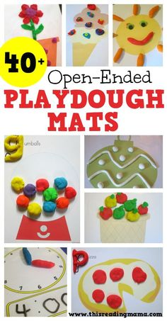 40+ Open-Ended Playdough Mats. These play dough mats are great for fine-motor skills, math, patterns and much more!