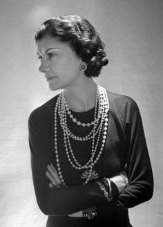 """Find the Gabrielle Bonheur """"Coco"""" Chanel – was a French fashion designer and …: at The RealReal is. Estilo Coco Chanel, Coco Chanel Fashion, Coco Chanel Style, Chanel Vintage, Slingback Chanel, Espadrilles Chanel, Dress Chanel, Chanel Chanel, Chanel Pearls"""