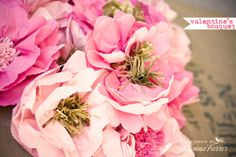 learn how to make beautiful handmade paper flowers. Shared by my friend Heather.