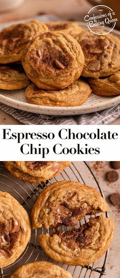 This contains an image of: {{ pinTitle }} Chocolate Chunk Cookie Recipe, Soft Cookie Recipe, Favorite Cookie Recipe, Sugar Cookies Recipe, Yummy Cookies, Chocolate Recipes, Yummy Treats, Sweet Treats, Holiday Cookie Recipes