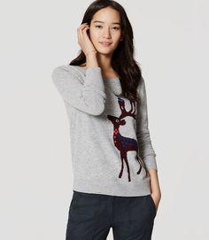 Primary Image of Petite Reindeer Sweater