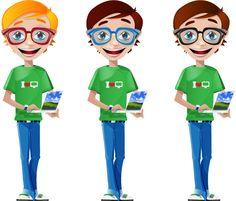 Freebie - Geek / Nerd Vector Character