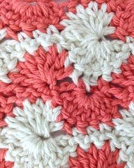 This gorgeous swirly stitch pattern looks like a Catherine Wheel hybrid!