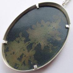 enamel grey pendant  - Sally Grant