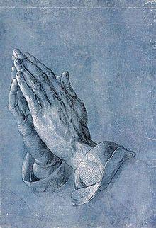 Betende Hände, in English Praying Hands (also known as Studie zu den Händen eines Apostels in German, engl. Study of the Hands of an Apostle), is a famous Pen-and-ink drawing by the German printmaker, painter and theorist Albrecht Dürer made circa Albrecht Durer, Albert Dürer, Städel Museum, Hans Holbein, Praying Hands, Holding Hands, Catholic Prayers, Gravure, Religious Art