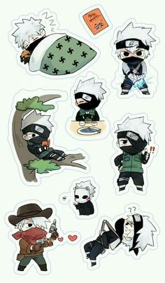 Find images and videos about kawaii, naruto and fanart on We Heart It - the app to get lost in what you love. Naruto Kakashi, Gaara, Naruto Anime, Naruto Cute, Naruto Funny, Stickers Kawaii, Anime Stickers, Cute Stickers, Chibi Anime