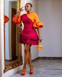 Short African Dresses, Latest African Fashion Dresses, African Print Dresses, African Print Fashion, Africa Fashion, Short Dresses, Fashion Prints, Chiffon Dresses, Dresses With Sleeves