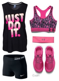 Evelin❤️ by evelinnnn on Polyvore featuring polyvore, fashion, style, NIKE and Under Armour