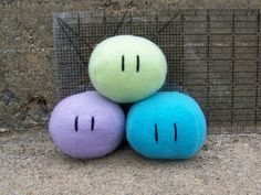 Clannad Dango Babies Plush Toys via Etsy, I'm reading Clannad right now and this made me laugh