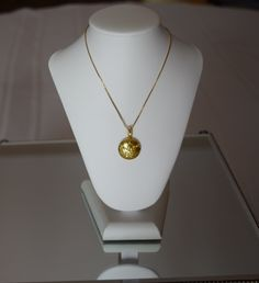 Gold Chanel button necklace pendant by Vswaggercouture on Etsy