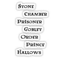 Harry Potter books Sticker