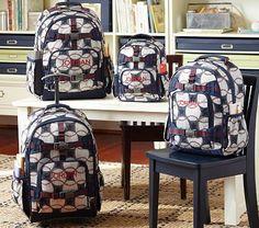 Mackenzie Blue Baseball Backpacks on potterybarnkids.com