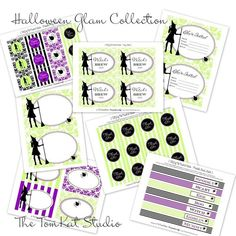 Glam Halloween Party Printables
