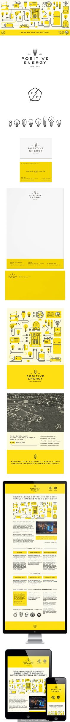 Positive Energy Branding by Fuzzco http://fuzzco.com/work/positive-energy/