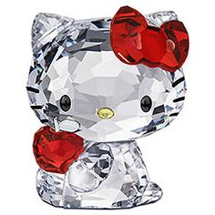 Swarovski Crystal: Hello Kitty Red Apple Figure 1096878 [ 1096878 ]