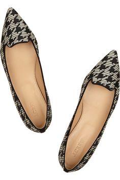9e1b7e2a194f2 houndstooth flats   j.crew Jeweled Shoes