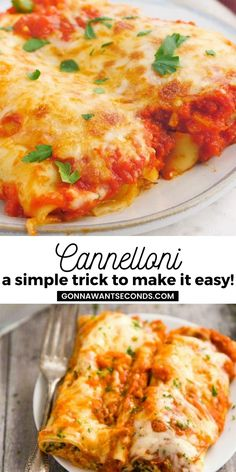 *NEW* Everyone will be impressed with this homemade cannelloni bake with its deliciously, rich red sauce and pasta wrapped around an indulgent cheesy filling. #Cannelloni #BakedPasta #Pasta #Baked #PastaRecipes #ItalianFood #Lasagna Rice Recipes, Pasta Recipes, Beef Recipes, Recipies, Dinner Recipes, Cooking Recipes, Perfect Pasta Recipe, Cannelloni Recipes, Stuffed Pasta Shells