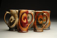 This site is intended to inform Brad Henry Pottery past and future customers of who I am, where I will be and items available for immediate purchase. Clay Mugs, Ceramic Mugs, Ceramic Art, Stoneware, Brad Henry, Sparks Joy, Pottery Techniques, Sgraffito, Tea Cups