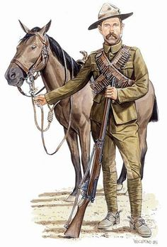 Boer War Uniforms | Trooper, Canadian Mounted Rifles, 1900-1902