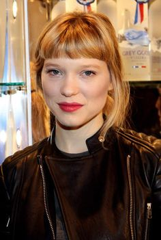 Léa Seydoux - bangs and red lips