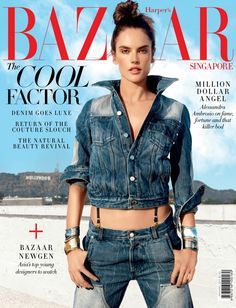 Alessandra Ambrosio on Harper's Bazaar Magazine Singapore January 2017 Cover