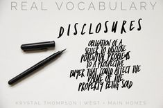 So what is a Real estate disclosure anyway? I always love to break down the v