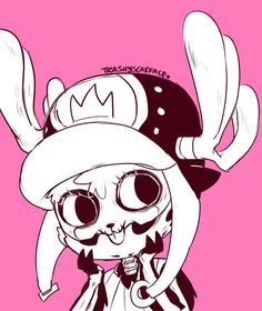 "Tony Tony Chopper - ""I thought you were scary, but you're actually humerus!"" One piece art pink Manga Anime, All Anime, Me Me Me Anime, Anime One Piece, One Piece 1, Otaku, Zoro, One Piece Chopper, Tsurezure Children"