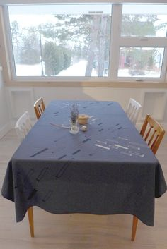 Rectangle Table, Dining Table, Boutique, Prints, Furniture, Etsy, Home Decor, Blue, Cotton