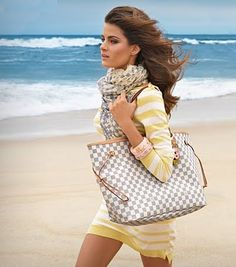 Louis Vuitton Damier Azur Neverfull - My beloved summer bag. If only the beach were included... I would've paid extra!