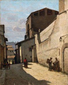 Borrani Odoardo : Firenze, Porta San Frediano  ((1870 - 1875))  - Olio su tela -  [..]