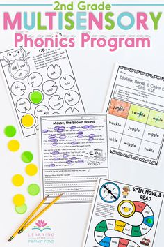 Are you looking for a teacher-friendly, multi-sensory phonics program for 2nd grade? From Sounds to Spelling empowers teachers to deliver outstanding phonics instruction. This year-long phonics curriculum combines research and science-based instruction with the features teachers need and want for phonics, phonological awareness, and spelling. Teachers can easily adapt the pacing and materials to meet their students' specific needs while saving time with low-prep materials. Phonemic Awareness Activities, Phonological Awareness, Sight Words List, Cvc Words, Teaching Writing, Teaching Ideas, Decoding Strategies, Phonics Programs, Phonics Lessons