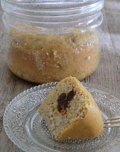 Gâteau aux bananes et aux pruneaux à la vapeur sans gluten et sans lactose