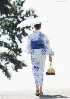 "Japanese summer kimono:""yukata""                                                                                                                                                                                 Plus"