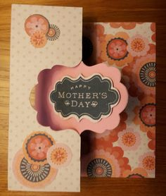 CTMH Perfect Fit - Mom stamp set, Claire paper and Artiste CRICUT cartridge swing card